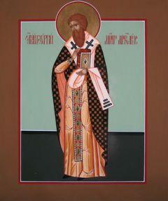 Рукописная икона Георгий Митиленский
