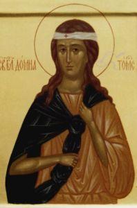 Рукописная икона Домна Томская