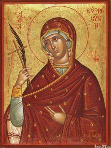 Рукописная икона Евфросиния Александрийская