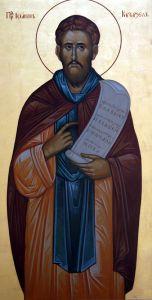 Рукописная икона Иоанн Кукузель