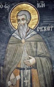 Рукописная икона Иоанн Психаит
