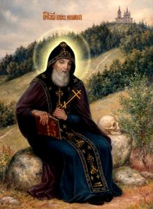 Рукописная икона Иов Анзерский