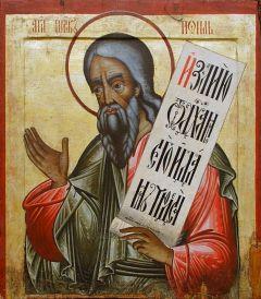 Рукописная икона Иоиль Пророк