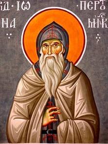 Рукописная икона Иона Пертоминский Соловецкий