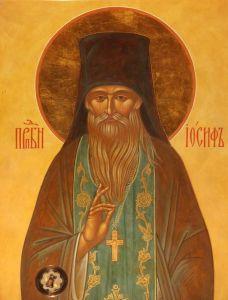 Рукописная икона Иосиф Оптинский