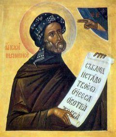 Рукописная икона Иосиф Песнописец