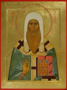 Рукописная икона Исаия Ростовский
