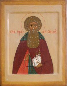 Рукописная икона Корнилий Комельский