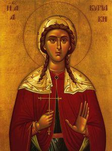 Рукописная икона Кириакия Римская