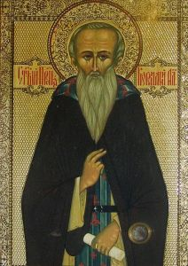 Рукописная икона Корнилий Александровский