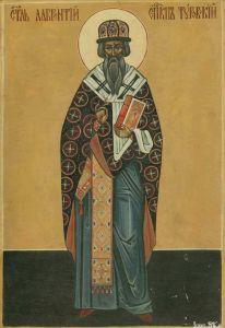 Рукописная икона Лаврентий Печерский Туровский
