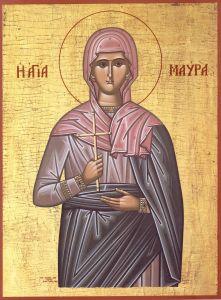 Рукописная икона Мавра Фиваидская