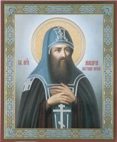 Рукописная икона Макарий Печерский Постник