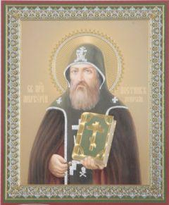 Рукописная икона Меркурий Печерский Постник