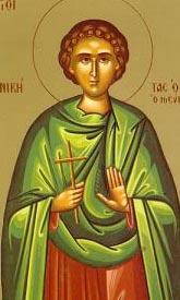 Рукописная икона Никита Нисиросский