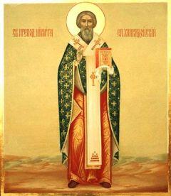 Рукописная икона Никита Халкидонский