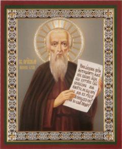 Рукописная икона Никон Сухой Печерский