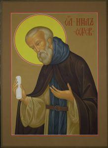 Рукописная икона Нил Сорский