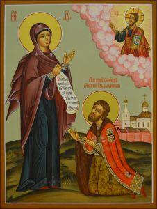 Рукописная икона Святой Андрей Боголюбский