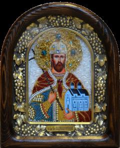 Икона из бисера Владислав Сербский