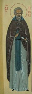 Рукописная икона Павел Борисоглебский
