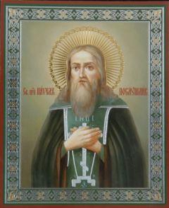 Рукописная икона Павел Печерский Послушливый