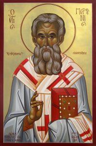 Рукописная икона Парфений Лампсакийский
