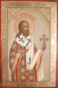 Рукописная икона Платон Ревельский