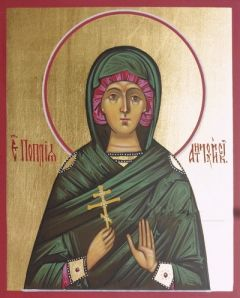 Рукописная икона Поплия Антиохийская