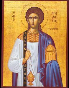 Рукописная икона Прохор Никомидийский