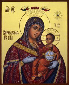 Рукописная икона Вифлеемская Божия Матерь
