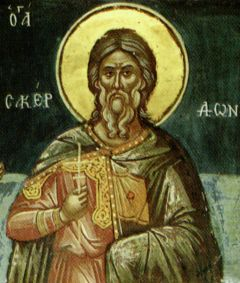 Рукописная икона Сакердон Севастийский