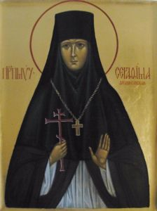 Рукописная икона Серафима Ферапонтовская