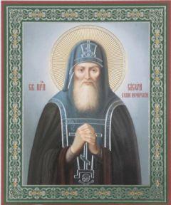 Рукописная икона Сисой Печерский Схимник