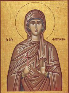 Рукописная икона Феврония Сирская