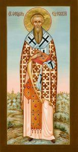 Рукописная икона Феодор Едесский