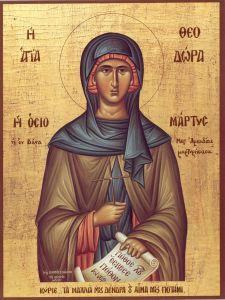 Рукописная икона Феодора Солунская