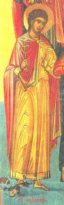 Рукописная икона Феодул Критский