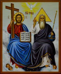 Рукописная икона Новозаветная Троица