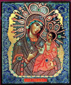 Рукописная икона Аксайская