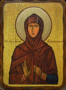 Икона состаренная Анна Кашинская