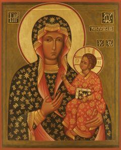 Рукописная икона Ченстоховская