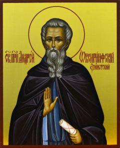 Рукописная икона Андрей Оксиринфский Египетский