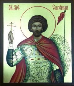 Рукописная икона Евгений Мелитинский