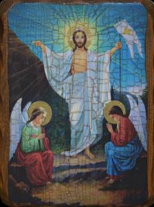 Икона состаренная Воскресение Христово