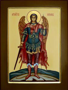 Рукописная икона Архангел Михаил (Размер 30*40 см)
