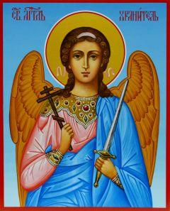 Рукописная икона Ангел Хранитель для ребенка