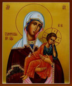 Рукописная икона Старорусская