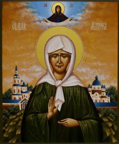Рукописная икона Матрона Московская