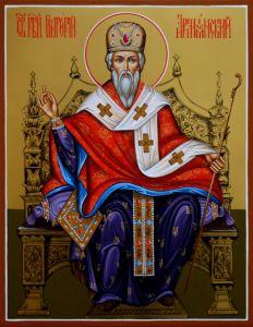 Рукописная икона Григорий Армянский